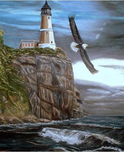 Belle peinture de phare
